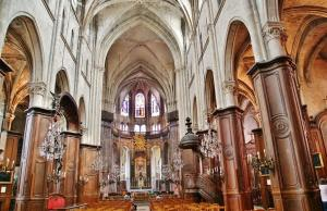 Interior of the Saint-Jacques church