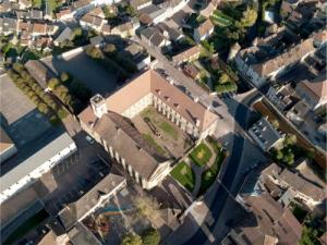 Aerial view of Abbey Corbigny