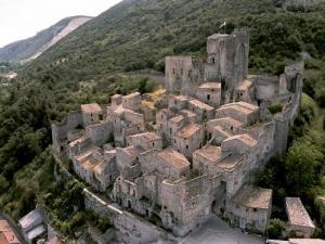 Aerial view of the medieval