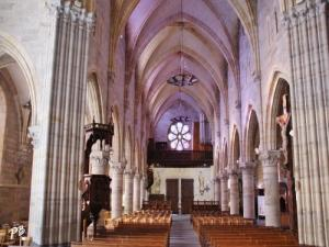 Interior of the church Saint-Saturnin the nave