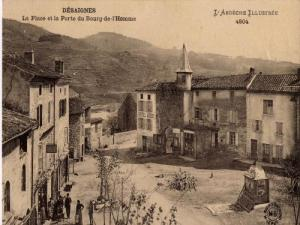 Place du village vers 1900