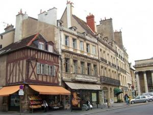 Old houses of the street Chabot-Charny in Dijon