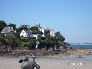 Dinard, beach of the Ecluse