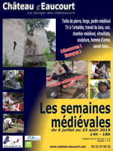 Eaucourt Castle, medieval weeks in summer