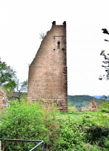 Ruins of the Tower of the Dagsburg, seen on the south side (© J.E)