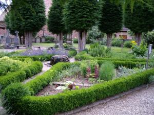 The medieval garden and chapel