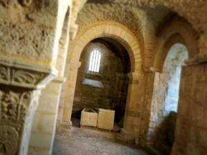 The Carolingian crypt of St Peter's Abbey in Flavigny