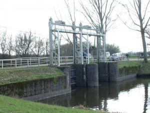 Champs New Lock on the canal supplies