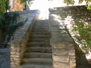 Stairs in the village of Gordes