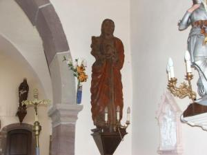 Wooden statue in the church