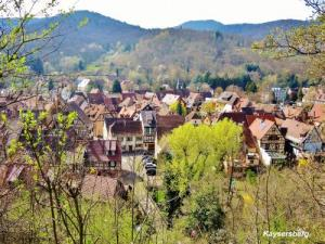Kaysersberg - the city seen from the castle (© Jean Espirat)