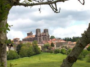 Village And Abbey La Chaise Dieu