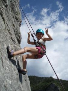 Climbing in gorges Agnielles - La Faurie