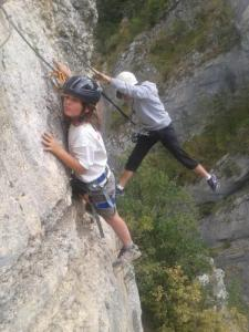 Via ferrata in the gorges of Agnielles - La Faurie