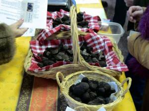 Truffle market in La Mothe-Saint-Héray