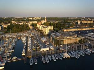 Harbour and the Aquarium of La Rochelle photographed with a drone
