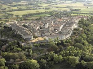 Aerial view of Lauzerte