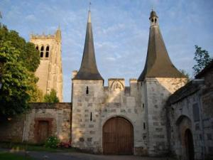 medieval abbey entrance