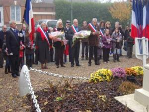Ceremony Nov. 11 at Coudray-Saint-Germer
