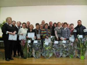 Awards contest of flowering