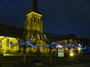 Illuminations of the church in December