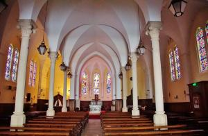 Interior of St. Charles Church