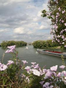 Seine and barges (Pecq © City of)