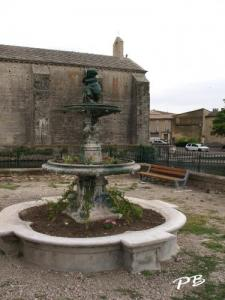 Former fountain near the church