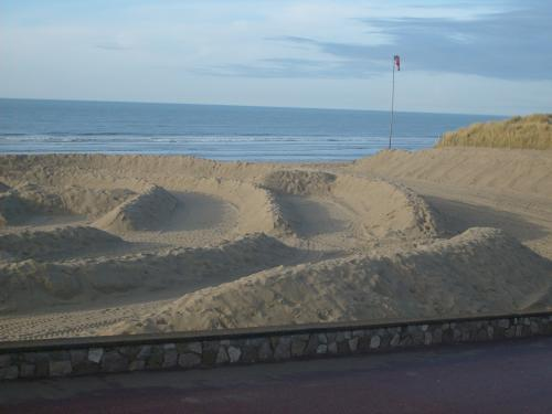 Beach Of The Touquet Le Preparations For Enduropale