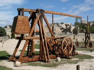 siege machines at the chateau des Baux