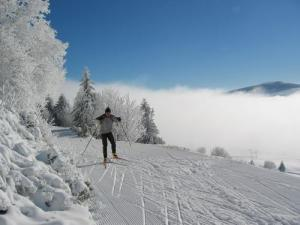 Skiing in Mzenc
