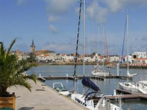 Marina in the heart of the city of Sables-d'Olonne