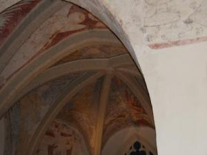 Frescoes in the church choir