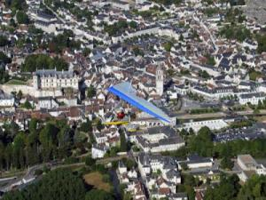 View of Loches in microlight