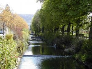 The Vallière River at the entrance to the town