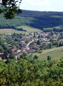 The village of Lugny seen from the listed natural site of La Boucherette