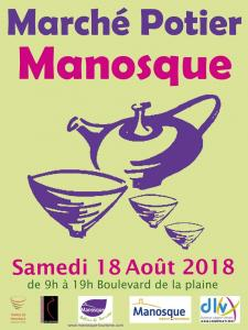 Pottery market poster of Manosque 2018
