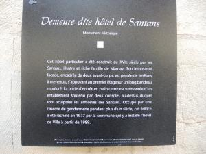 Information about the old hotel Santans (© Jean Espirat)