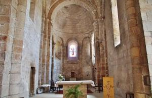 The interior of Saint-Amand church