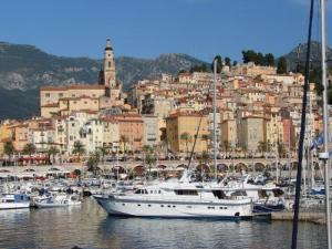Port and town of Menton