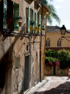 Narrow street of the old town of Menton