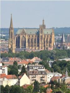 Metz Cathedral overlooking the city