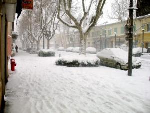 the snow Miramas in January 2009... amazing