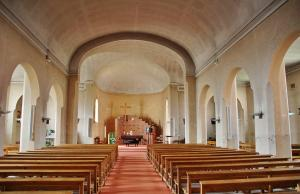 The interior of the Saint-Vincent-de-Paul church