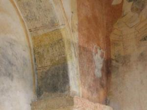 Inside the old church of Saint-Christophe - Frescos