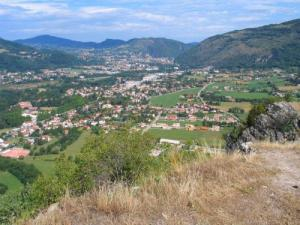 View on the valley of Foix from Sugar Loaf