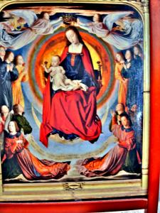 Pintura central do tríptico do Mestre dos Moinhos, na catedral (© J.E)