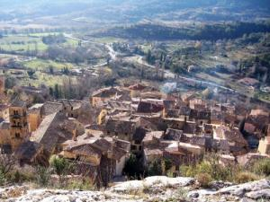 The roofs of Moustiers-Sainte-Marie