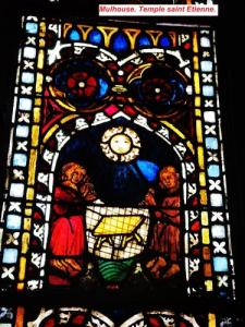 stained glass Saint-Etienne temple (© Jean Espirat)