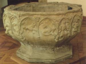 baptismal font from the 13th century